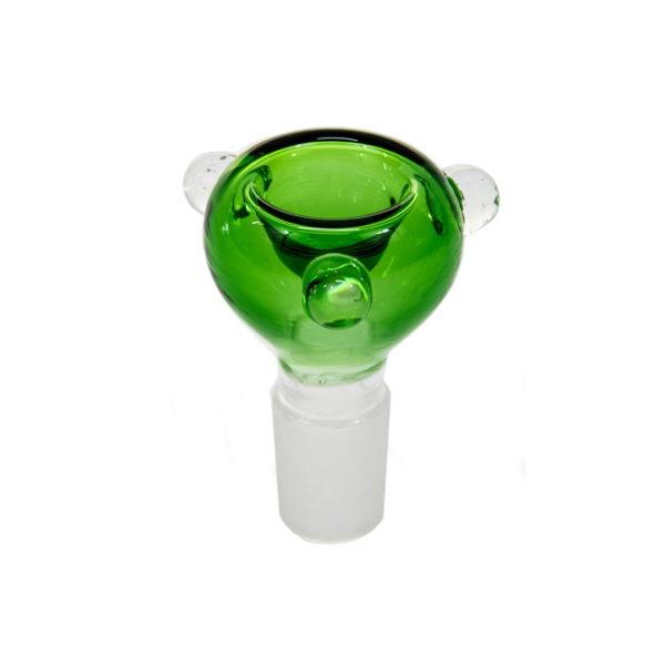 Cybuch kulisty z uszkami 18,8mm - zielony